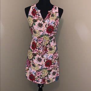 LOFT summer floral shift dress - petite